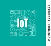 internet of things and smart... | Shutterstock .eps vector #513856696