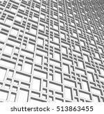 abstract rectangular lattice.... | Shutterstock .eps vector #513863455