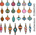 christmas decoration collection   Shutterstock .eps vector #513865345