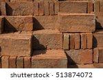 Pile Of Bricks Under The Stron...