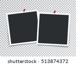 photo frames with pin isolated... | Shutterstock .eps vector #513874372