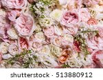 Stock photo abstract nature flowers texture background with white and rose roses 513880912