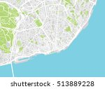urban city map of lisbon ... | Shutterstock .eps vector #513889228