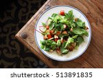 a delicious chicken salad with...   Shutterstock . vector #513891835