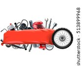 vector banner with motorcycle... | Shutterstock .eps vector #513899968