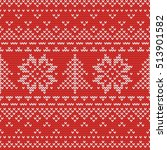 christmas knitting seamless... | Shutterstock .eps vector #513901582