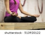 woman doing yoga exercises in... | Shutterstock . vector #513920122