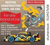 elements for carwrap  vinyl...   Shutterstock .eps vector #513927658