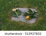 Grave Decoration On A Grave...