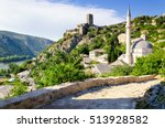 old mosque in pocitelj village... | Shutterstock . vector #513928582