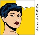 vector illustration of a woman... | Shutterstock .eps vector #51393196