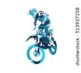 motocross jumping freestyle...   Shutterstock .eps vector #513937258