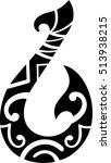 maori style hook for tattoo   Shutterstock .eps vector #513938215
