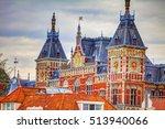 amsterdam central train... | Shutterstock . vector #513940066