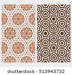 set of original floral patterns.... | Shutterstock .eps vector #513943732