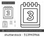 calendar organizer vector line... | Shutterstock .eps vector #513943966