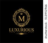 luxury logo template in vector... | Shutterstock .eps vector #513952966