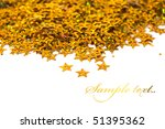 celebration stars on white...   Shutterstock . vector #51395362