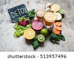 detox juice | Shutterstock . vector #513957496