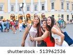 best friends taking a self... | Shutterstock . vector #513962536