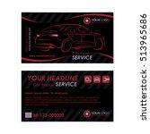 auto repair business card... | Shutterstock .eps vector #513965686
