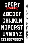 sport font. letters and numbers ... | Shutterstock .eps vector #513974686