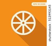 cart wheel vector icon on...   Shutterstock .eps vector #513993145