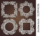 laser cut vector decorative... | Shutterstock .eps vector #513994156