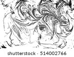 vector black and white marbled... | Shutterstock .eps vector #514002766