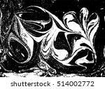 vector black and white marbled... | Shutterstock .eps vector #514002772