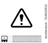 exclamation danger sign | Shutterstock .eps vector #514010512