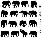 asian elephants   Shutterstock .eps vector #51401308