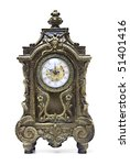 An Antique Clock Ornate With...