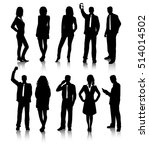 group of business people... | Shutterstock .eps vector #514014502
