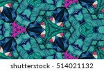 abstract hand painted... | Shutterstock . vector #514021132