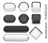 web black and white buttons.... | Shutterstock .eps vector #514021222