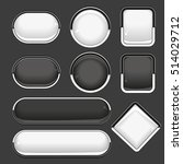 web black and white buttons.... | Shutterstock .eps vector #514029712