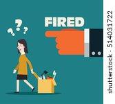 dismissed frustrated business... | Shutterstock .eps vector #514031722