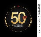 50 years golden anniversary...   Shutterstock .eps vector #514044202