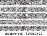 set of five shabby  grunge... | Shutterstock .eps vector #514062622