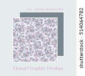 floral graphic design. flower... | Shutterstock .eps vector #514064782
