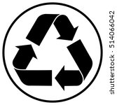 partially recycled content... | Shutterstock .eps vector #514066042