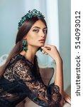 beautiful fashion model woman... | Shutterstock . vector #514093012