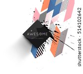 geometric background template... | Shutterstock .eps vector #514102642