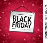 black friday door sign | Shutterstock .eps vector #514102975