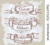 old hand drawn banner to... | Shutterstock .eps vector #514111492