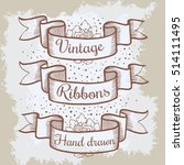 old hand drawn banner to... | Shutterstock .eps vector #514111495