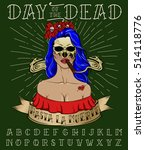 mexican holiday day of the dead ... | Shutterstock .eps vector #514118776