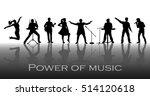 power of music concept. set of... | Shutterstock .eps vector #514120618