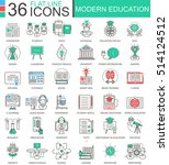 vector modern education color... | Shutterstock .eps vector #514124512